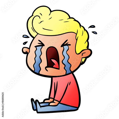 """cartoon crying man"" Stock image and royalty-free vector ..."