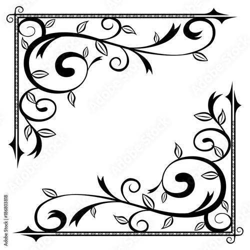 Floral Scroll Corner
