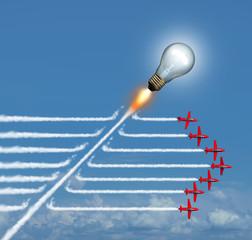 Disruptive Idea Concept