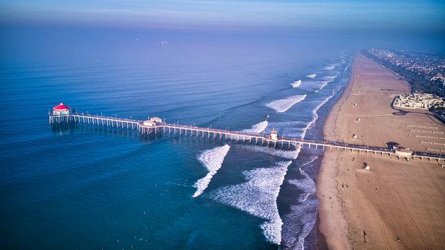Huntington Beach at Sunrise