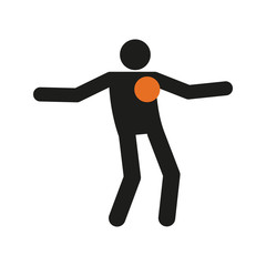 Simple Freestyle Football Soccer Sport Figure Symbol Vector Illustration