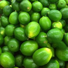 Many Limes in a market bin