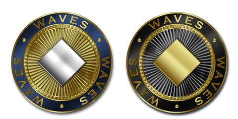 Cryptocurrency WAVES coin