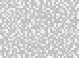 Abstract squares geometric gray and white background. Pixel, Grid, Mosaic.