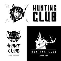 emblem, sign, symbol, insignia of animals heads heads.