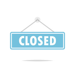 Closed sign vector isolated