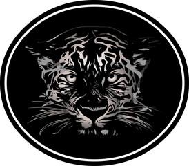 Black Panther logo on white background.