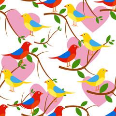 beautiful bird seamless pattern. vector illustration
