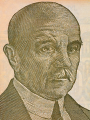 Jovan Cvijic portrait from Yugoslavian money