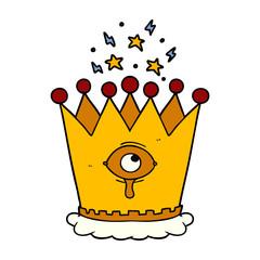 cartoon magic crown