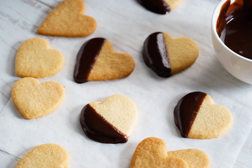 heart shaped cookies