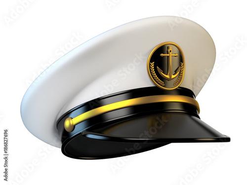 cc73f8d76 Navy cap, ship officer, admiral, sailor, naval captain hat front ...