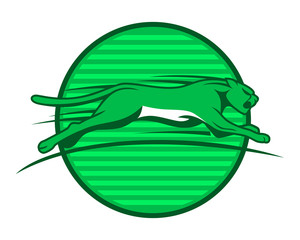 green leopard cheetah tiger jaguar beast animal image vector