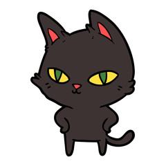 cartoon cat with bright eyes