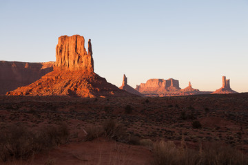 The famous Monument Valley, Utah USA during sunset