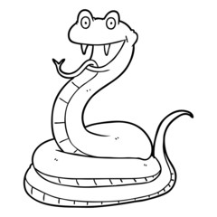 cartoon happy snake