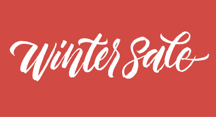 Winter sale inscription lettering