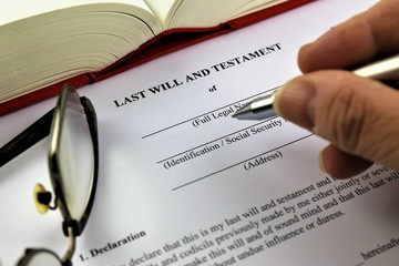An concept Image of a last will and testament