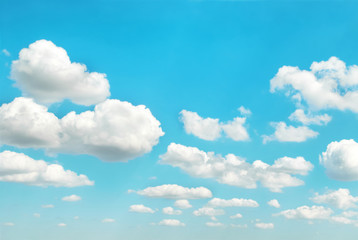 White clouds on blue sky can be used for nature background