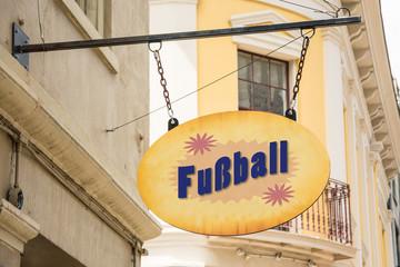 Schild 278 - Fussball