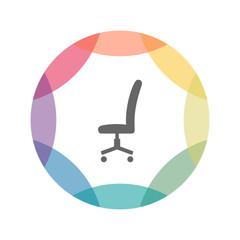 farbiges Icon - Bürostuhl