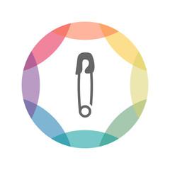 farbiges Icon - Sicherheitsnadel