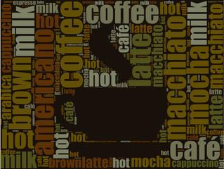 coffee icon word cloud design