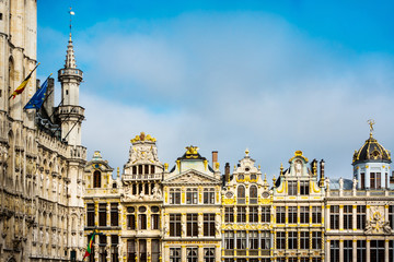 Foto op Canvas Brussel Grand Place at Brussels, Belgium