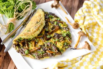 omelette aux champignons 6