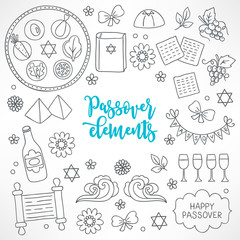 Hand drawn Passover design elements