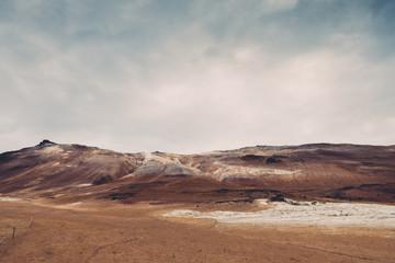 Hverir Geothermal Area In North Iceland