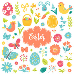 Collection of Easter design elements