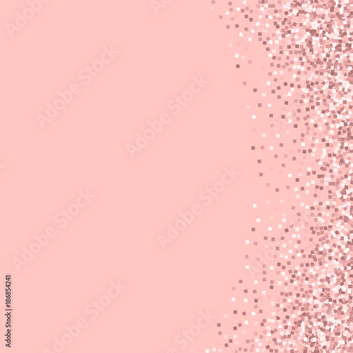 Pink Gold Glitter Abstract Right Border With On Background Unusual