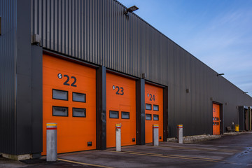 Rollup aluminum doors to a distribution central