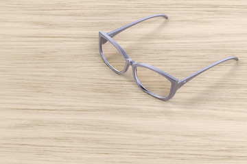 Modern female eyeglasses