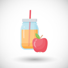 Apple juice vector flat icon