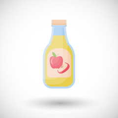 Apple cider vinegar vector flat icon