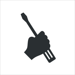 Screwdriver icon.  Illustration