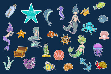 Under The Sea - Mermaid Character Set stickers