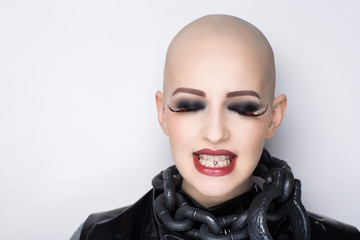bald woman emotions