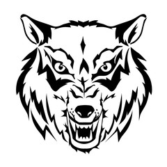 Wolf simple icon