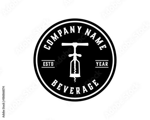 vector beer bottle openers tool for beaf illustration symbol circle