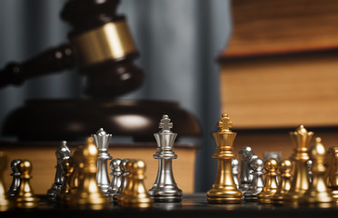 Chess in the private office of lawyer.