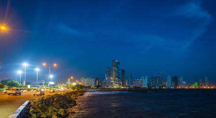 Skyline of Bocagrande, Cartagena, Bolivar, Colombia, South America