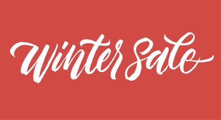 Winter sale inscription lettering.
