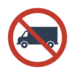 No truck or no parking sign
