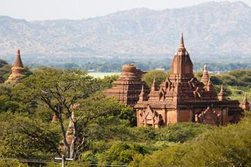 The temples and pagodas of Bagan, Myanmar near Mandalay