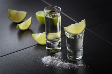 tequila , lime and salt .