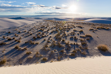 Sand dunes at white sands national monument [New Mexico, USA]