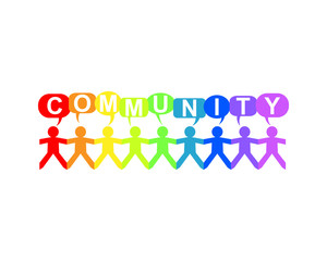 Community Paper People Speech Rainbow